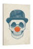 Balazs-Solti,Modern & Contemporary,People,Entertainment,clown,skull,skulls,bones,bone,hat,hats,beige,cream,orange,ball,nose ball,Mist Gray,Gray,Black,Charcoal Gray,Slate Gray,Baby Blue,Pale Green,White