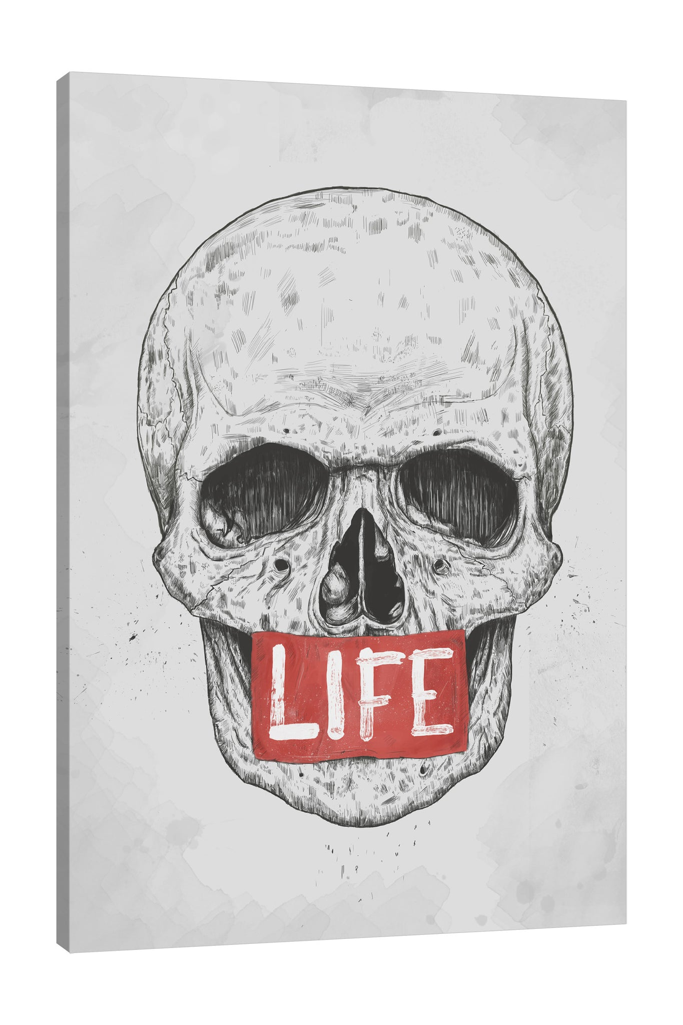 Balazs-Solti,Modern & Contemporary,People,skull,skulls,bones,bone,life,words,lines,line,red,black and white,Purple,White,Gray