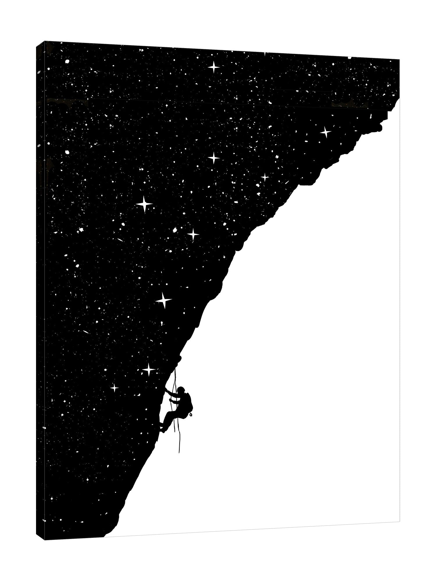 Balazs-Solti,Modern & Contemporary,People,stars,star,people,mountain climbing,climbing,night,silhoutte,silhouttes,black and white,Red,Black,White