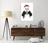 Balazs-Solti,Modern & Contemporary,Animals,Entertainment,animals,animal,panda,pandas,santa hat,christmas,santa,hearts,heart,Red,Mist Gray,Black,White