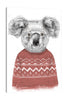 Balazs-Solti,Modern & Contemporary,Animals,Geometric,animals,animal,koalas,koala,sweater,sweaters,red,pattern,patterns,white,diamonds,diamond,shapes,shape,triangle,triangles,Purple,Blue,Gray,Mint Blue,Salmon Pink,Tan Brown,Yellow,Army Green,White