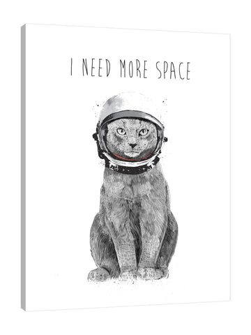 Balazs-Solti,Modern & Contemporary,Animals,Humor,animals,animal,cat,cats,strokes,stroke,helmet,helmets,feline,words and phrases,space,black and white,Green,Red,White