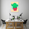 Ludwig-Van-Bacon,Vertical,3X4,Modern & Contemporary,Humor,Entertainment,plants,plant,cactus,cacti,don‰۪t touch me,words,words and phrases,sparkle,sparkles,pots,thorns,Red,Black,Purple,Gray,Blue,Cranberry Red,Mist Gray,White