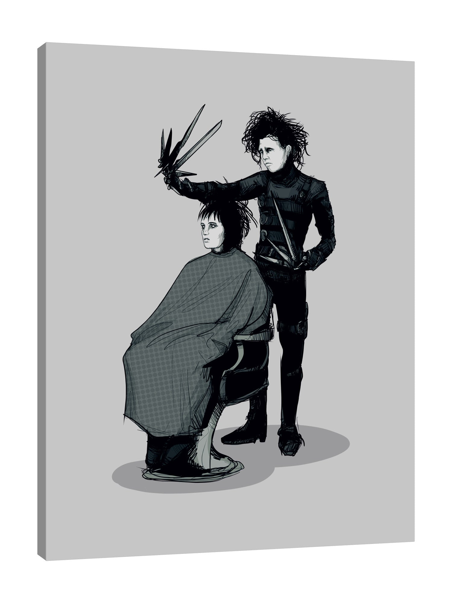 Ludwig-Van-Bacon,Vertical,3X4,Modern & Contemporary,Entertainment,People,edward,edward scissorhand,scissorhands,scissors,scissor,black,emo,haircut,haircuts,cuts,hair,salon,shadow,Red,Black,Baby Blue,Lime Green,Sky Blue,Gray
