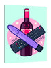 Ludwig-Van-Bacon,Vertical,3X4,Modern & Contemporary,Entertainment,Food & Beverage,remote,remotes,gadget,gadgets,wine bottle,wine bottles,bottles,bottle,wine,wines,sparkle,sparkles,me time,me,time,times,words,word,Red,Purple,Black,White,Gray
