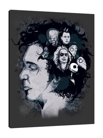 Ludwig-Van-Bacon,Vertical,3X4,Modern & Contemporary,Fantasy & Sci-Fi,Entertainment,People,tim burton,figures,figure,movie,movies,director,cinema,cinemas,characterscharacter,black,spots,spot,Sky Blue,Navy Blue,Blue,Army Green,Charcoal Gray,Green,White,Black