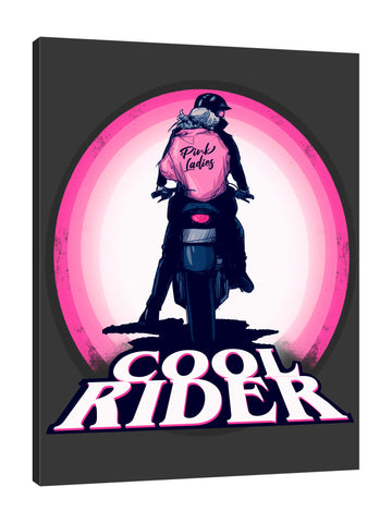 Ludwig-Van-Bacon,Vertical,3X4,Modern & Contemporary,People,Transportation,Entertainment,motorcycle,motorcycles,motor,motors,bike,bikes,couple,rider,riders,cool rider,words,word,rainbow,rainbows,pink,pink ladies,pink,jacket,jackets,helmet,helmets,Red,Black,Salmon Pink,White,Mist Gray,Charcoal Gray,Cranberry Red,Teal Blue