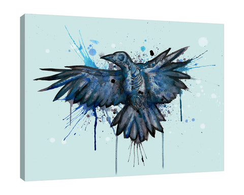 Ludwig-Van-Bacon,Horizontal,5X4,Modern & Contemporary,Animals,animals,animal,birds,bird,paint drips,paint drip,drips,drip,blue,Red,Navy Blue,Black,Blue,Purple,Mint Green,Sea Green,Blue Gray,Gray
