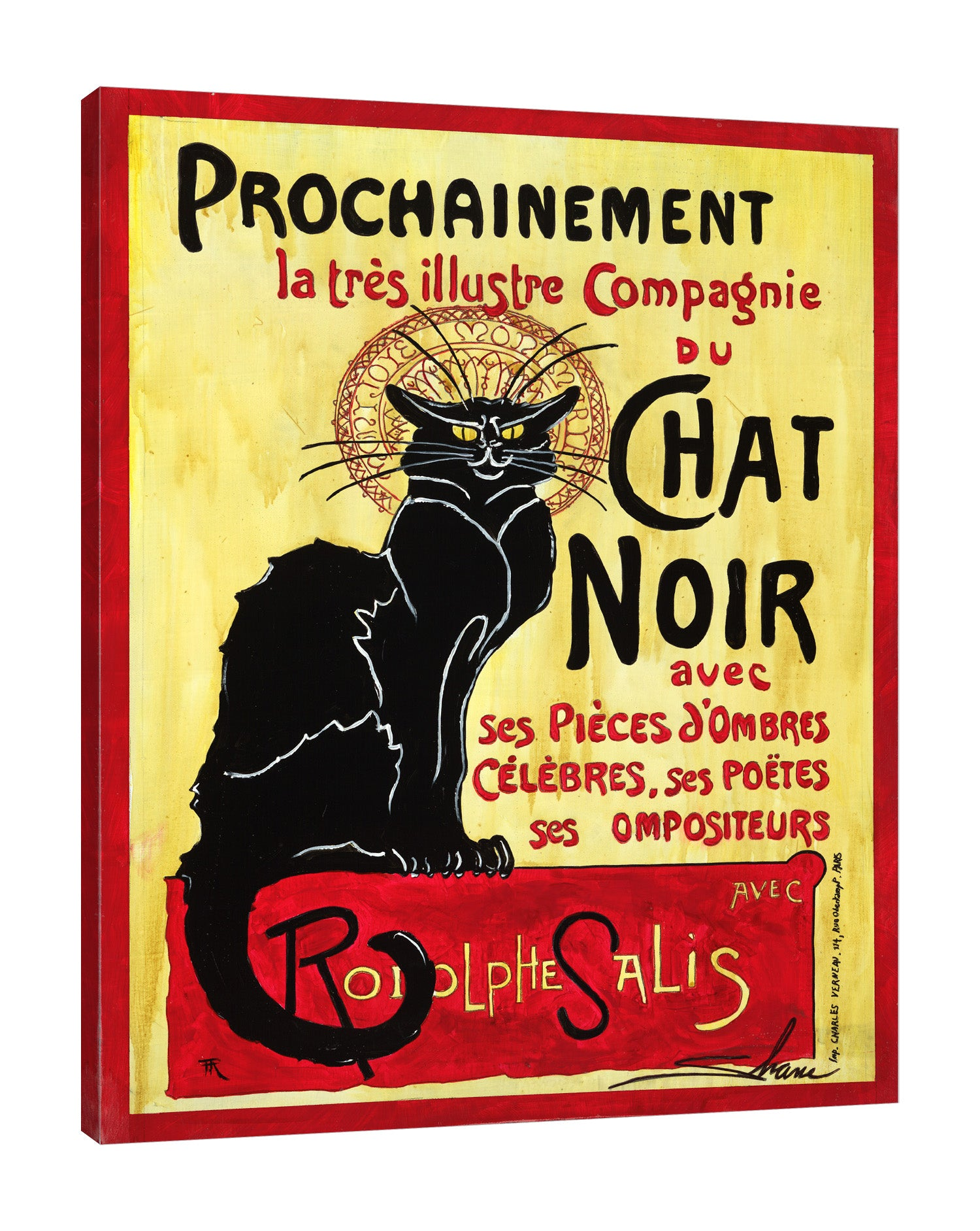 Shane-Miller,Vertical,4X5,Modern & Contemporary,Animals,Entertainment,animals,animal,black cat,cats,cat,words and phrases,words,chat noir,banner,banners,Red,Gold Yellow,Rose Brown,Black,Mist Gray,Sky Blue,Lime Green,Gray,Charcoal Gray,Purple