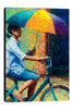 Iris-Scott,Modern & Contemporary,People,woman,umbrella,bicycles,bikes,women,transportation,