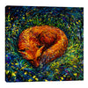 Iris-Scott,Modern & Contemporary,Animals,foxes,fox,animals,animal,sleeping,napping,grass,leaves,