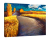 Iris-Scott,Modern & Contemporary,Landscape & Nature,wheats,clouds,barn,grains,