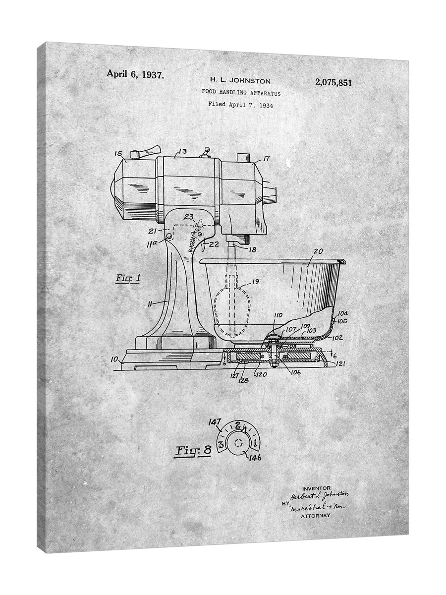 Cole-Borders,Modern & Contemporary,Food & Beverage,Vintage & Retro,Kitchen,blueprints,drawing,planning,patent,model,food mixer,