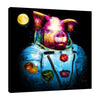 Patrice-Murciano,Modern & Contemporary,Animals,pigs,animals,moon,pink,Teal Blue,Gray,Blue,Sky Blue,White,Black