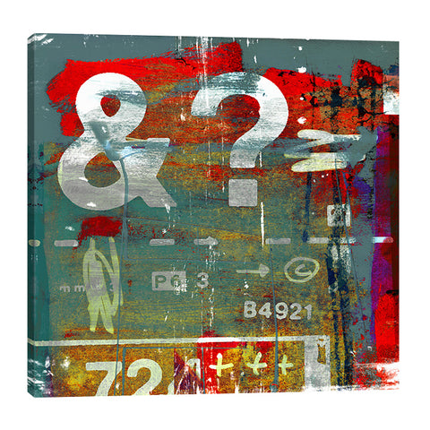 Sven-Pfrommer,Modern & Contemporary,Entertainment,question mark,lines,numbers,letters,plus sign,letra art,letters,Charcoal Gray,Gray,Mint Green,Slate Gray,Turquoise Blue,White