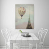 Ashley-Davis,Modern & Contemporary,Buildings & Cityscapes,hot air balloon,chrysler balloon,buildings,cityscrapes,Blue,Lime Green,Mint Blue,Charcoal Gray,Red,White,Gray