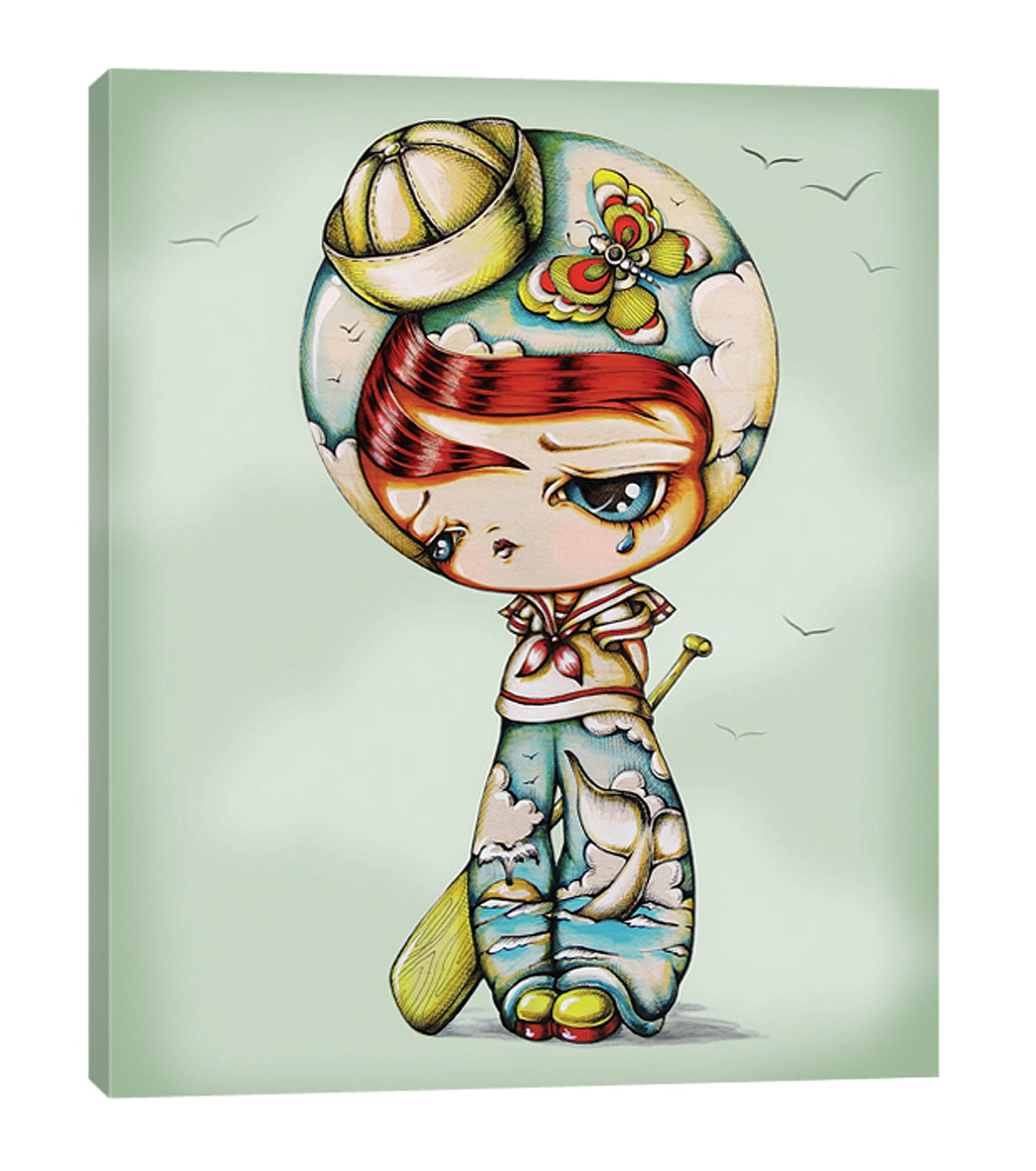 Ship at Sea Sailor Boy - Kokeshi Doll