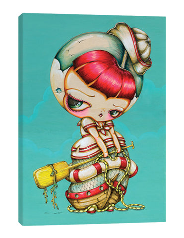 Ship at Sea - Kokeshi Girl