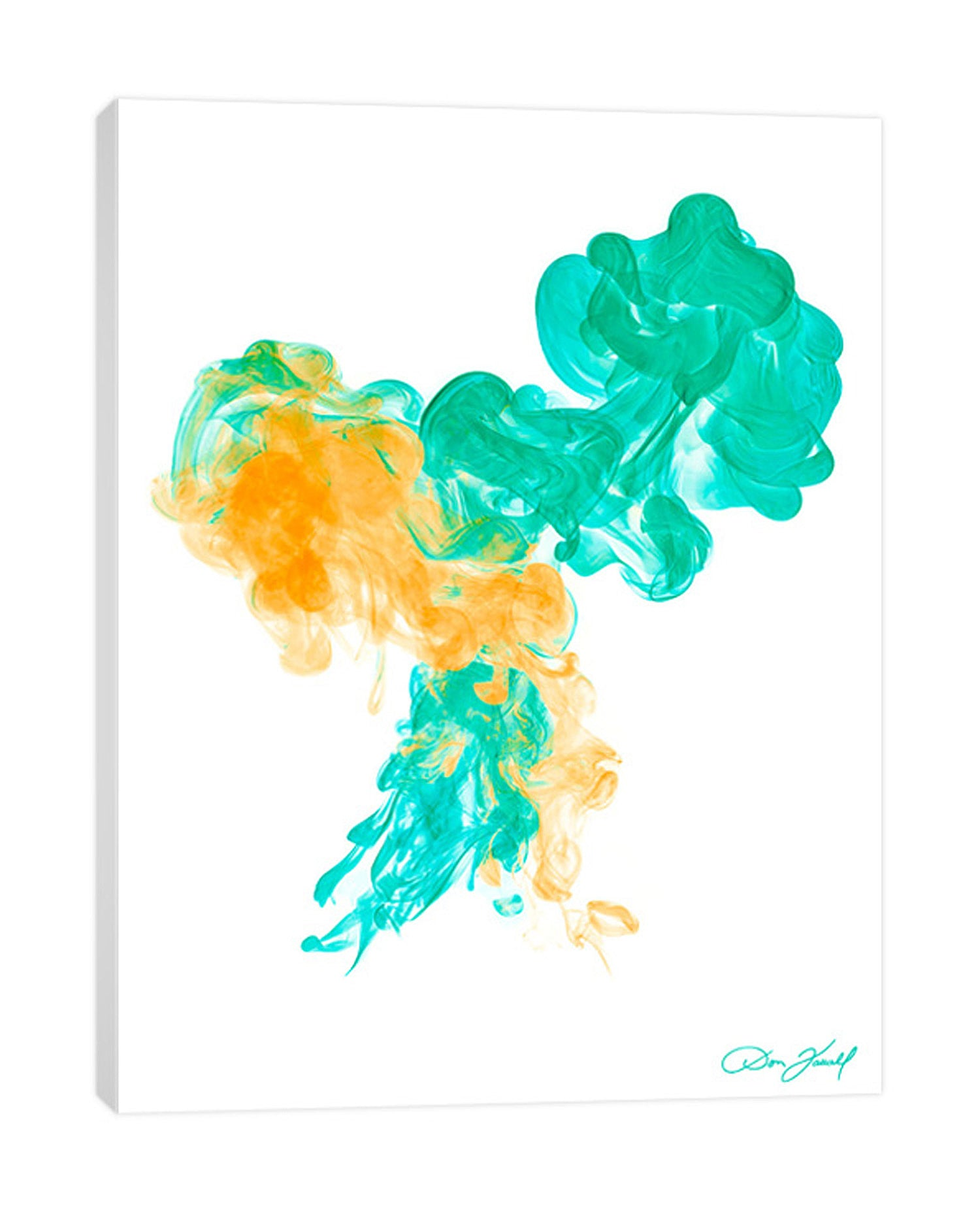 Don-Farrall,Modern & Contemporary,Abstract,absrtact,smoke,yellow,green,smokes,Teal Blue,Red,Nude White,White