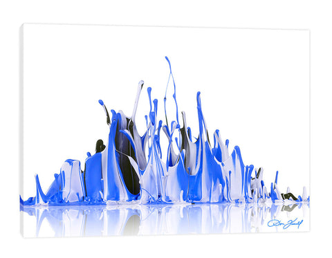 Don-Farrall,Modern & Contemporary,Abstract,absrtact,paint,drips,painting,blue,white,black,Tan Orange,Blue,White