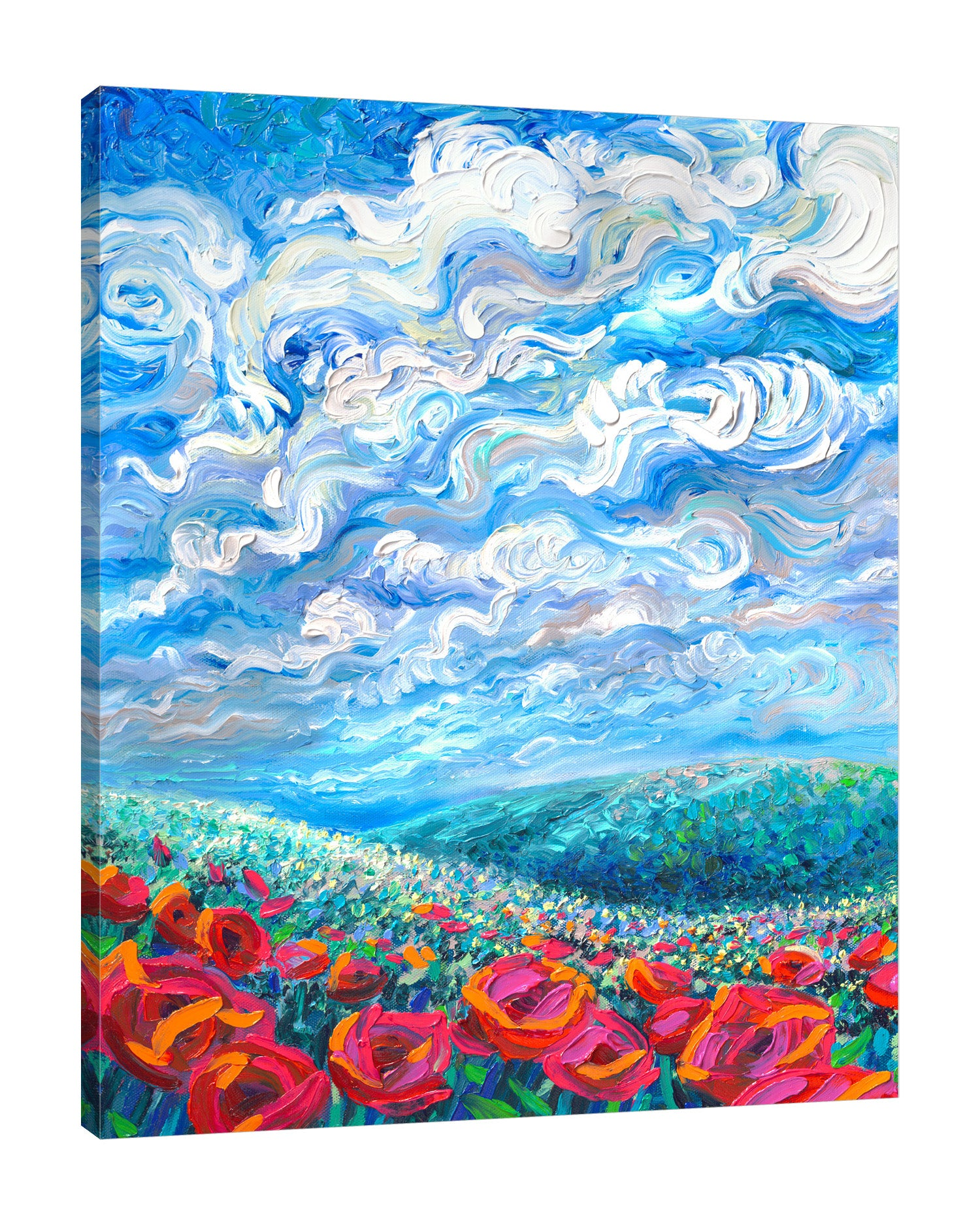 Iris-Scott,Modern & Contemporary,Floral & Botanical,skies,clouds,florals,flowers,mountains,botanical,