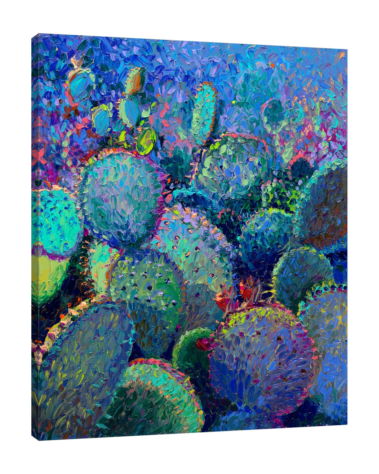 Iris-Scott,Modern & Contemporary,Landscape & Nature,Impressionism,surreal,finger paint,nature,scenic,landscape,floral,cactus,,