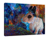 Iris-Scott,Modern & Contemporary,Animals,Landscape & Nature,Impressionism,surreal,finger paint,animal,nature,scenic,landscape,bunnies,rabbits,