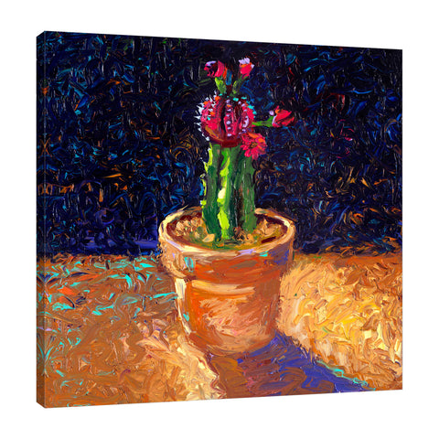Iris-Scott,Modern & Contemporary,Animals,Landscape & Nature,Abstract,Impressionism,surreal,finger paint,floral,cactus,plant,pot,,