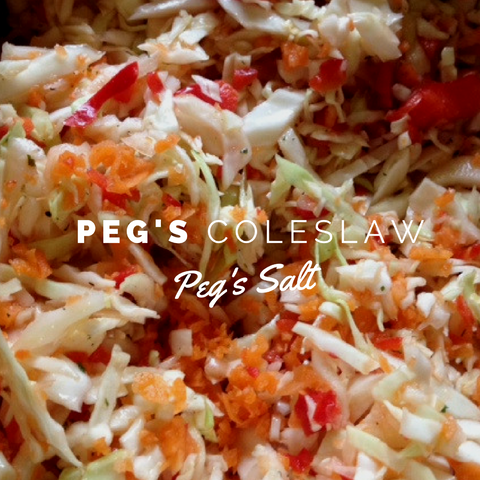 Peg's Salt Coleslaw Recipe