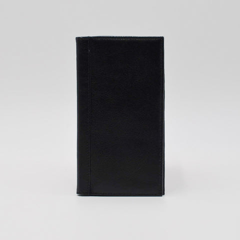 "Leather Cover: 391 6 3/4"" x 3 3/4"" for 3-1/4x6-1/4 wirebound or casebound insert black"