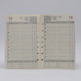 DD827I IVORY PREFERENCE COLLECTION 5-1/2X8-1/2 7-HOLE DAILY PLANNER LOOSE LEAF CALENDAR