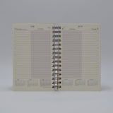 DD85WI IVORY DAILY WIREBOUND PLANNER 5 X 8 PREFERENCE COLLECTION CALENDAR WIRED