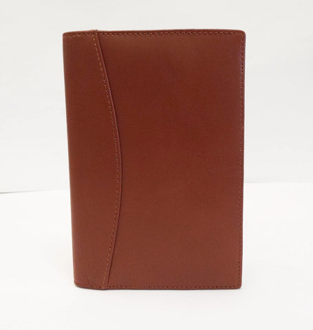 Leather: L8134 Bellino British Tan Cover for 5x8 Planner Insert