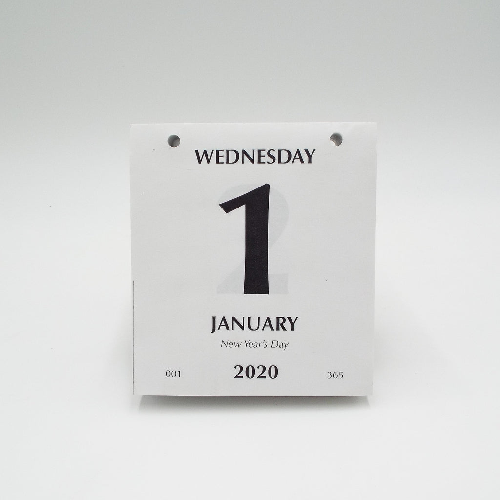 "Today is Calendar: 4-1/4"" x 4-3/4"" Two Hole Daily Refill for 2020"