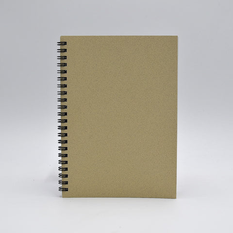 Journal Refill: 1272 Wirebound 5-1/2X7-3/4 Journals  Black or Sand cover, white paper. Gray-lined or blank sheets. Wire-bound refill. Back to journal refill makes for easy insertion into your cover.