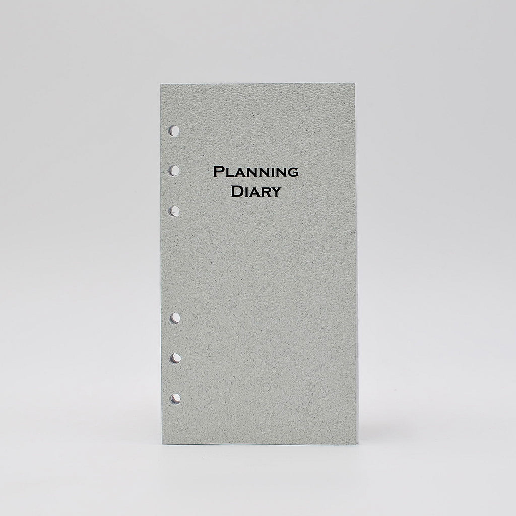 "MP46P6 McCarthy Collection: MP46P6 6-3/4"" X 3-3/4"" 6-Ring Planner 6-HOLE PLANNER WHITE MONTHLY WEEKLY CALENDAR LOOSE LEAF planning diary loose leaf louis vuitton agenda refill calendar"