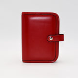Leather: 6-ring Cover for 3-3/4 x 6-3/4 with Snap Closure and Document Holder