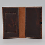 "Leather Cover: 391 6 3/4"" x 3 3/4"" for 3-1/4x6-1/4 wirebound or casebound insert brown"