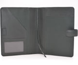 Leather: 7-1/2 x 9-3/4 Leather Cover with Snap Closure for Wirebound, 3-hole, or 7-hole Inserts