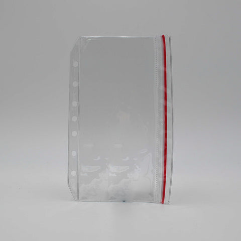 "Press Down Envelope: 82PDZ 5 1/2"" x 8 1/2"" Clear Poly 7-Ring Document Organizer"