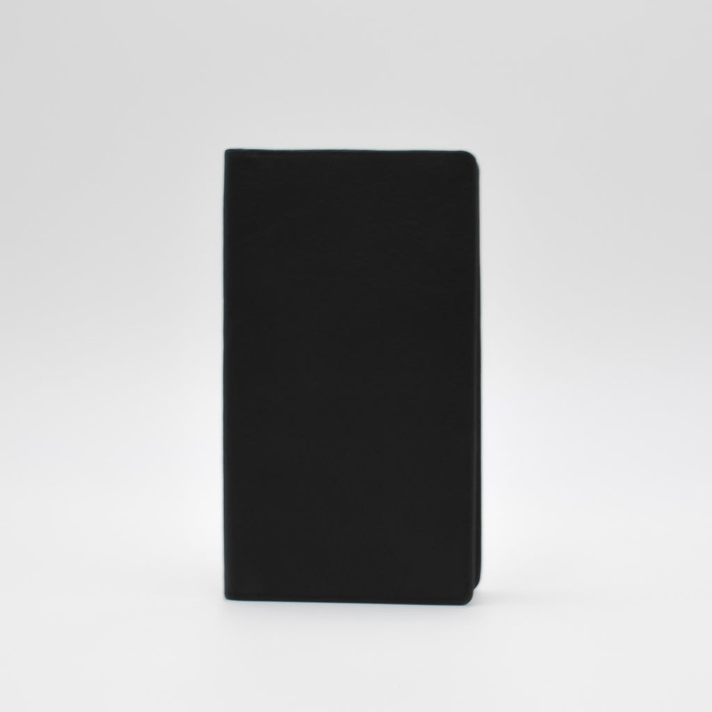 "Leather: Soft-touch 6 1/2"" x 3 3/4"" cover"