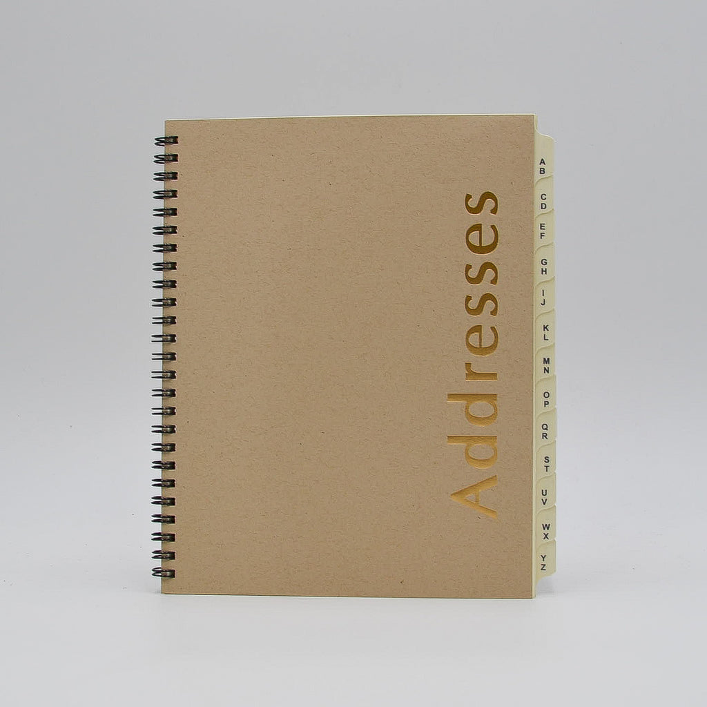 "Address Book: AD86WI 6-3/4"" x 8-3/4"" Wirebound a to z organizer telephone book wirebound ivory preference collection bosca buxton"