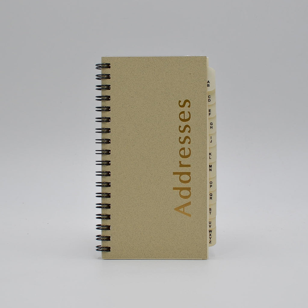 "Address Book: AD36WI 3-1/4"" x 6-1/4"" Wirebound telephone refill insert a to z alphabet tabs alpha organizer email ivory preference sungraphix collection Tumi Gerkah Bosca Buxton Dopp louis vuitton"