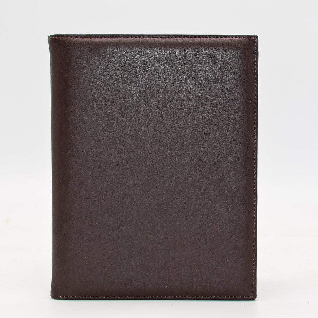 "Leather: Double 5"" x 7"" Picture Frame  Available in Dark Brown and British Tan gift idea desk present for him for her picture"