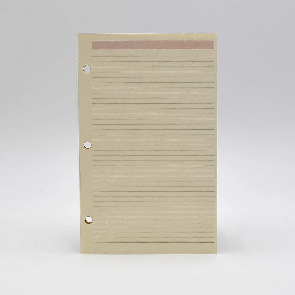 "Note Sheets: PC85FR 8""X 5"" Ruled Hole-Punched Loose Leaf Pages 3-ring or 16-ring"