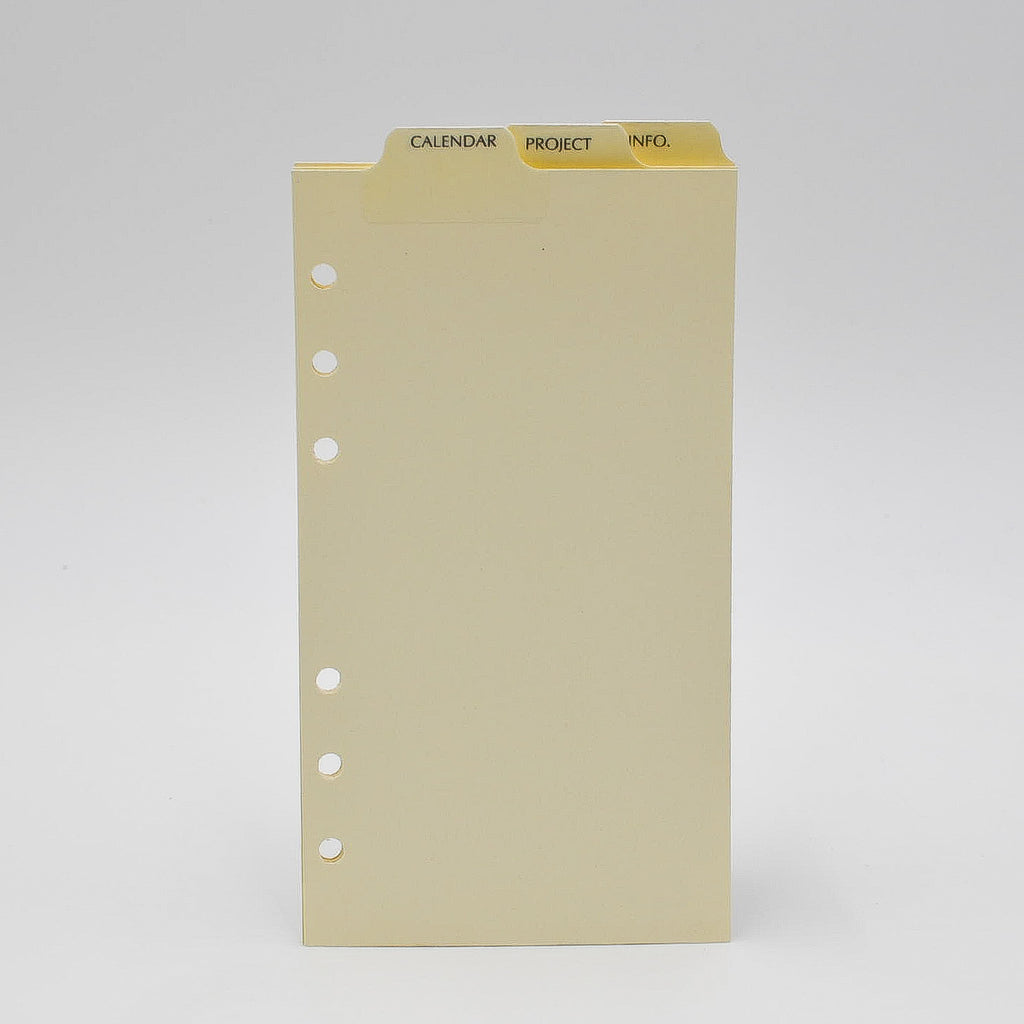 "Top Tabs: MT46P6I 6-3/4"" X 3-3/4"" 6-Ring ivory 6 hole mp46p6 pd646 supplement laminated"