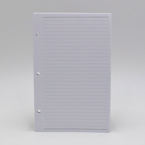 "Supplemental Combo: MS58P 5 3/8""x 8 1/2"" 3-Hole/7-Hole To-do/Address/Ruled Note Sheets"
