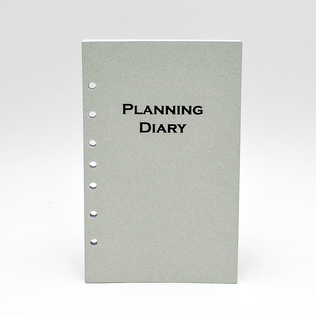 "2020 calendar McCarthy Planner- Item MP58P7 12 Month Planner  White paper. Size 8-1/2""X 5-1/2"" 7 -Ring 144 pages; Weekly and Monthly View Format. One agenda planner; two formats. Also includes a 3 Yearly View, 12 Monthly View, 52 Weekly View. And includes Advance Planning, Important Dates, International Holidays, Birthdays and Anniversaries, Weights and Measures, Weather, Interest Rates, Road and Air Miles...and more! Calendar refill only.  Made in the USA! loose leaf paper agenda refill insert organizer"