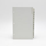 "Address Tabs: PC3D853 8""X 5"" 3-ring white grey 3 hole loose leaf telephone alpha alphabet laminate tabs"