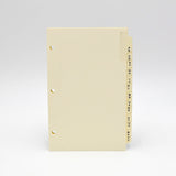 "Address Tabs: PC3D853 8""X 5"" 3-ring ivory 3 hole loose leaf telephone alpha alphabet laminate tabs"